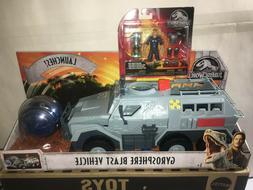 Jurassic World Gyrosphere Blast Vehicle &  TRAINER Owen figu