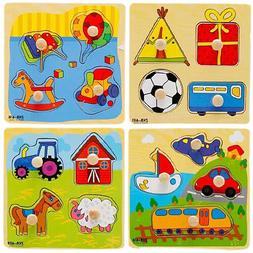 JW_ Baby Toddler Intelligence Development Animal Wooden Bric