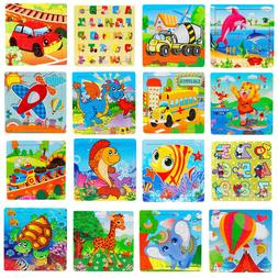 Kid 16 Piece Wooden Jigsaw Toys Education And Learning Puzzl