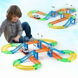 Kids Assembling Toy Double Layers Electric Urban Track Car G