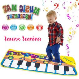 Kids Baby Musical Music Piano Play Mat Development Animal Ed