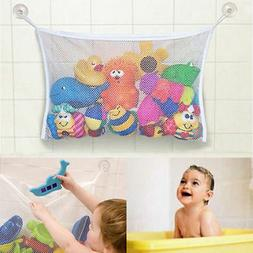 Kids Bath Time Toy Tidy Storage Suction Cup Bag Mesh Bathroo