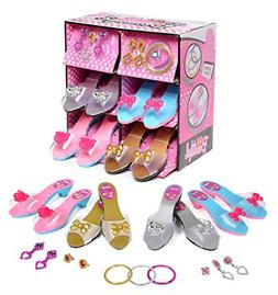 Kids Dress Up Shoes Girl Pretend Play Set Pair Princess Todd