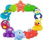 Nuby 10-Pack Little Squirts Fun Bath Toys, Assorted Characte