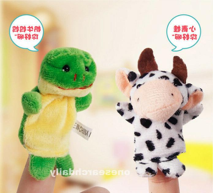 10 Finger Puppets Cloth Educational Toy