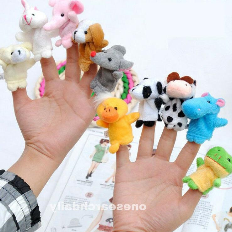 10 Family Finger Puppets Cloth Baby Educational Toy