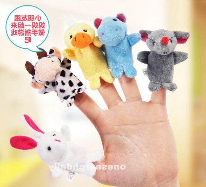 10 Family Puppets Cloth Educational Cartoon Animal Toy