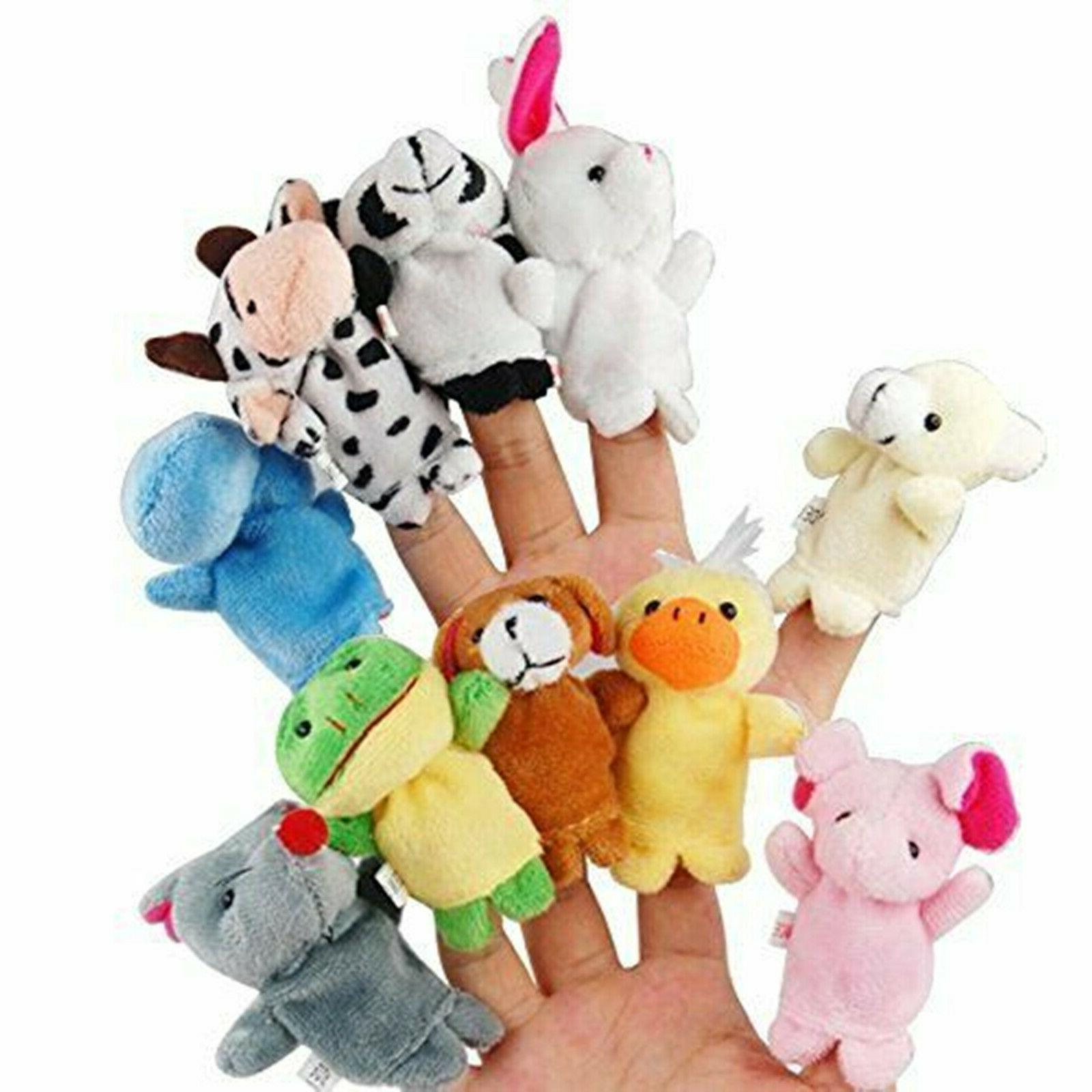 10PCS Fingertip Animal Cloth Developmental Toys