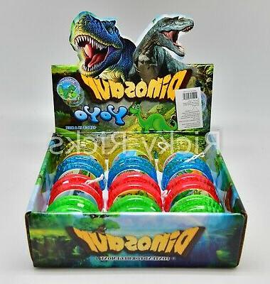 12 Light Up Dinosaur Yo-Yo's T-Rex Party Bag Fillers Favors