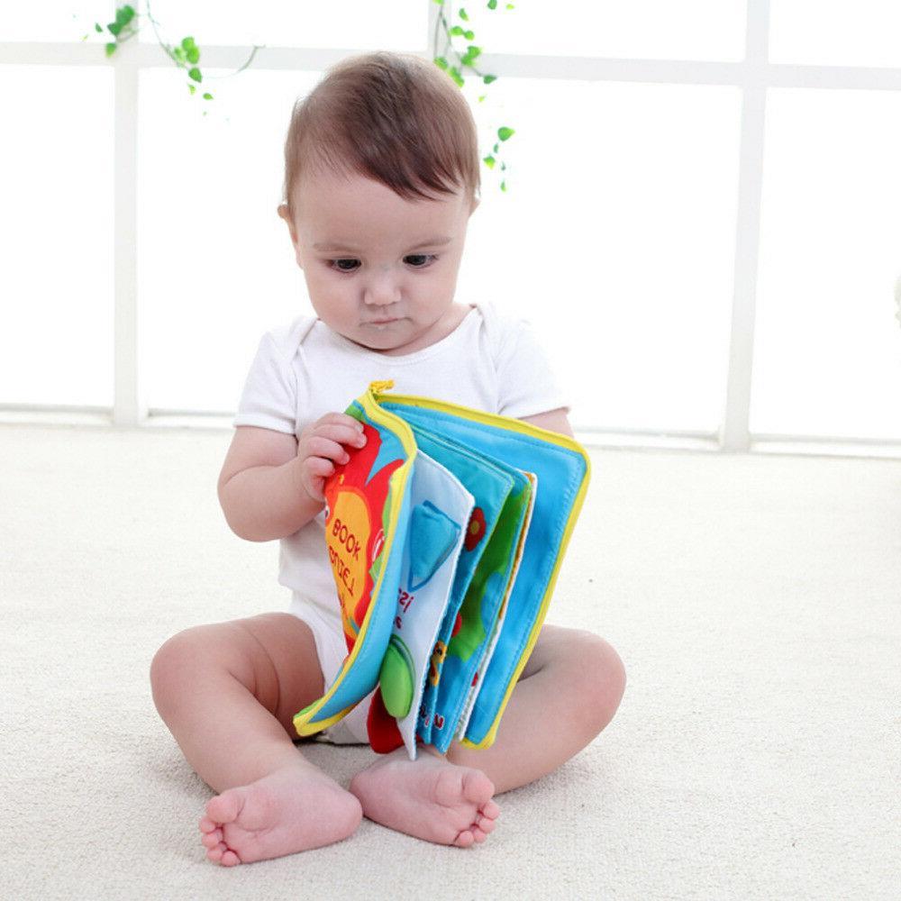 12 Cloth Baby Girls Books Rustle Sound Toys