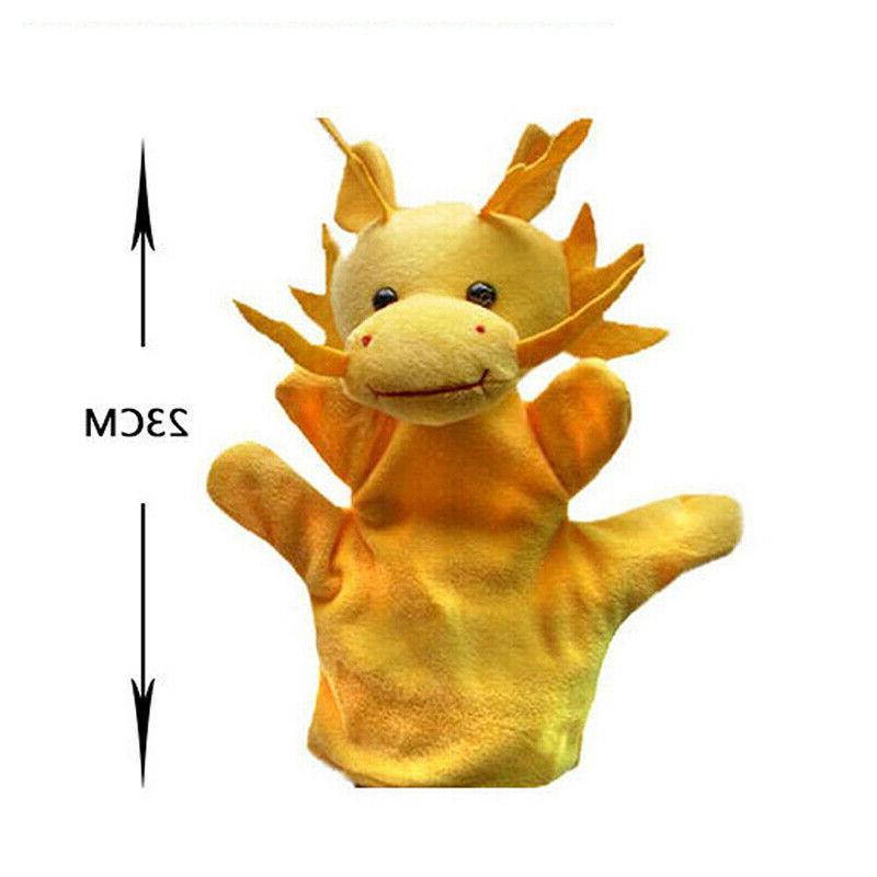12 Animal Wildlife Hand Glove Plush Puppets Kids #US