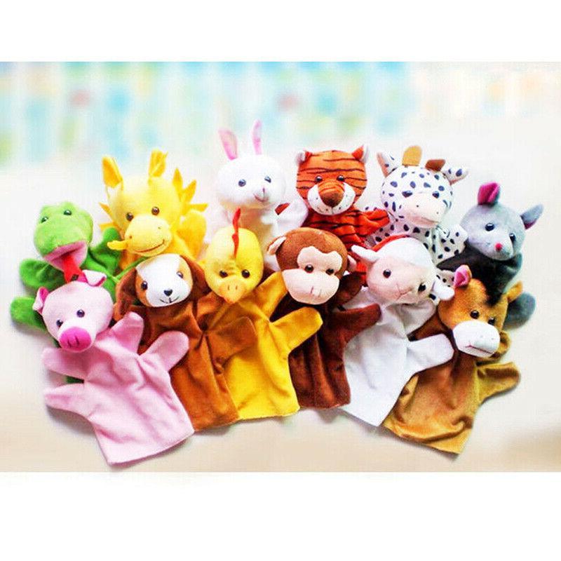 12 Hand Glove Puppets Children Toys #US