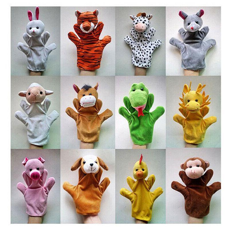 12 Styles Hand Soft Plush Puppets #US