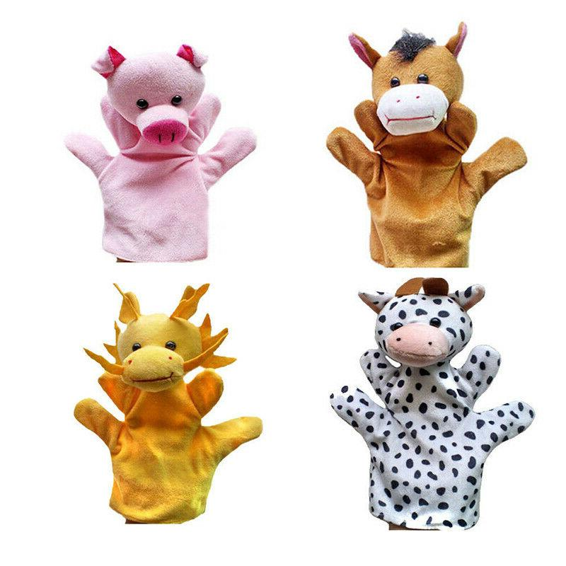 12 Animal Hand Puppets Kids Toys #US