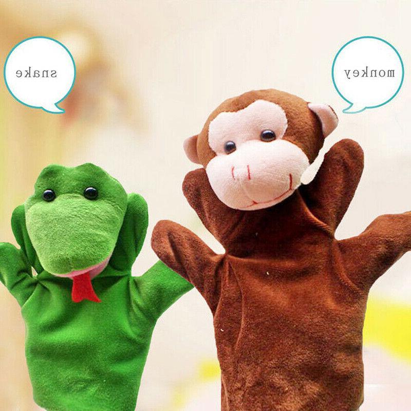 12 Styles Wildlife Hand Glove Plush Puppets Children #US