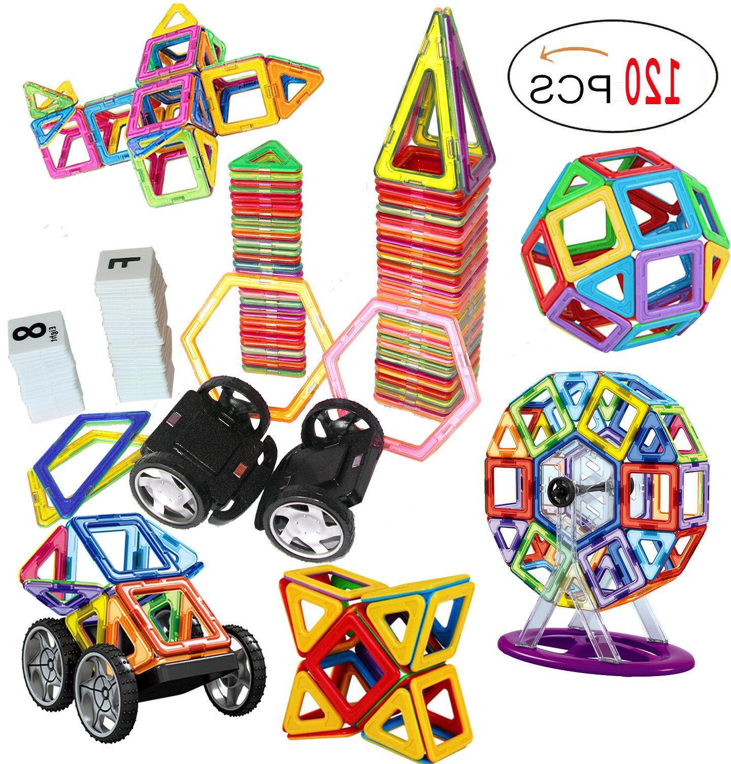 120 Piece Magnetic Tiles magnetic Building Blocks Toys for K