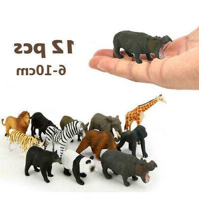 12pcs plastic dinosaur ocean wild farm animals