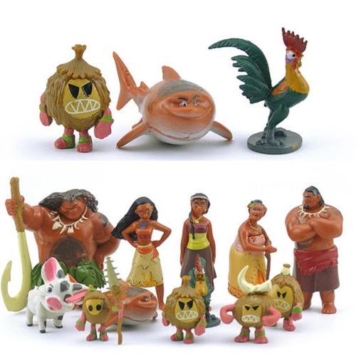 12pcs Set Figurine Cake Pua Kids