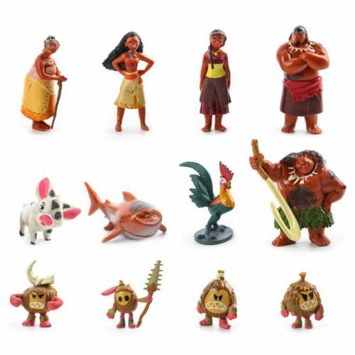 12pcs Figurine Topper Pua Heihei Doll Toys Kids