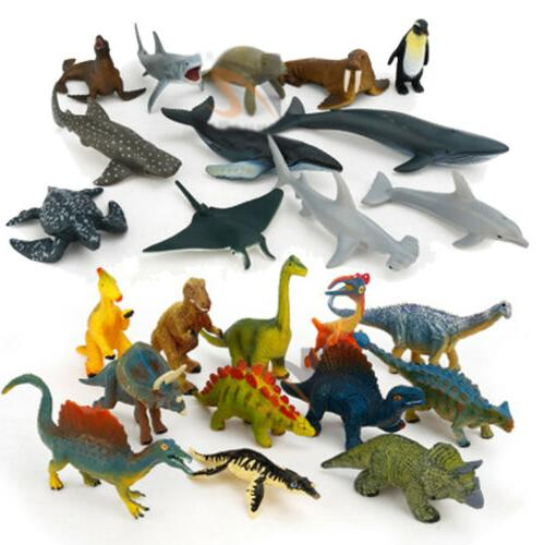 12PCS Dinosaur Wild Farm Kids Play Set