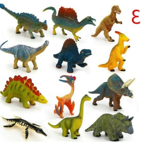 12x Kids Plastic Animals Dinosaur Model Gifts