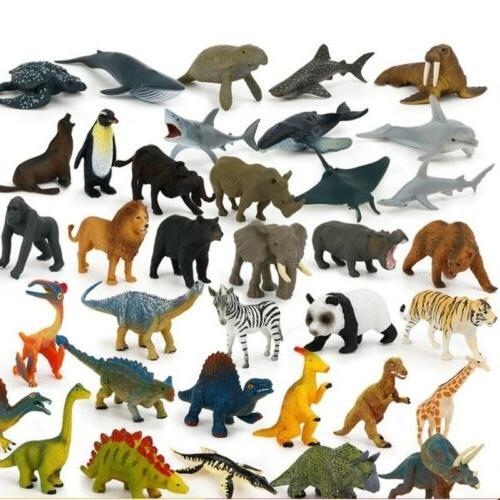 12PCS Dinosaur Wild Animals Kids Play Set