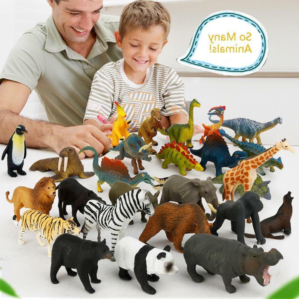 12x Figures Plastic Wild Animals Dinosaur Toys Gifts