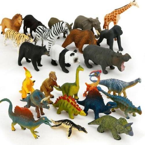 12PCS Plastic Dinosaur Ocean Wild Model Kids Set