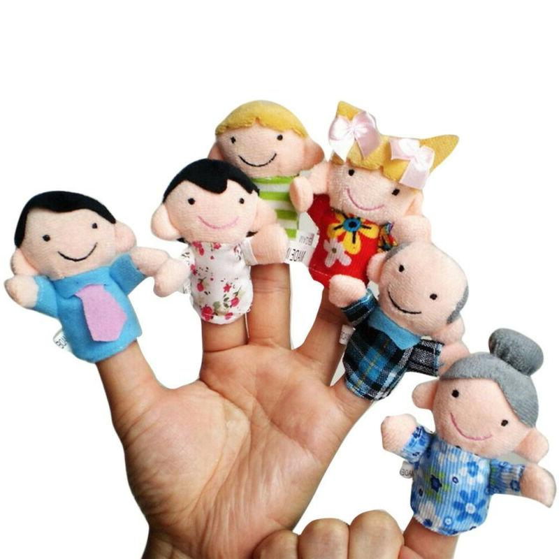 6 PCS Baby Kids Plush Cloth Play Game Learn Story Family Fin