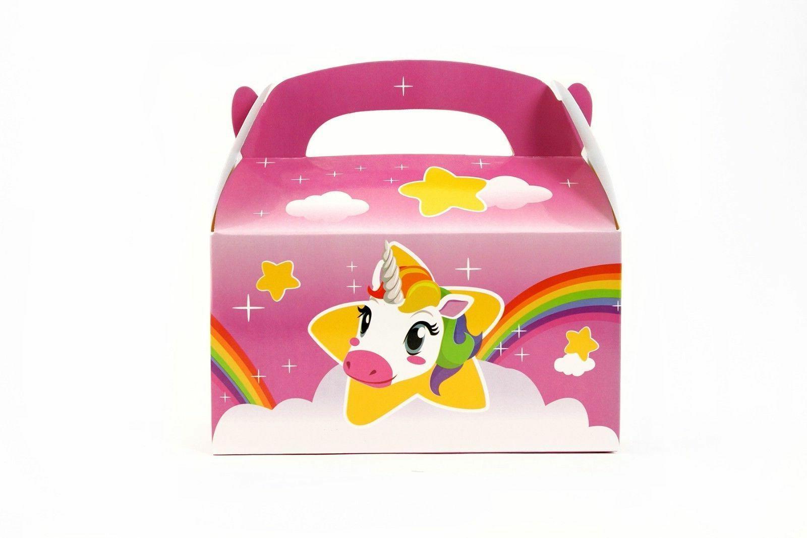 24pk Pink Unicorn Party Treat Goody Boxes Favors Toys Birthd