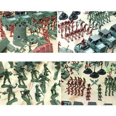 307 pcs/set Military Playset Plastic Soldier Men Figures & Accessories