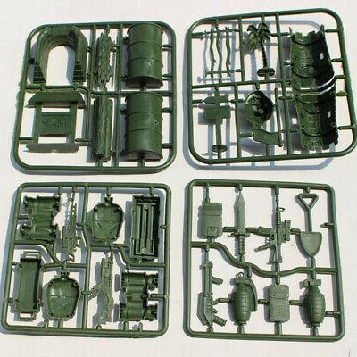 307 Playset Plastic Soldier Men Figures & Accessories