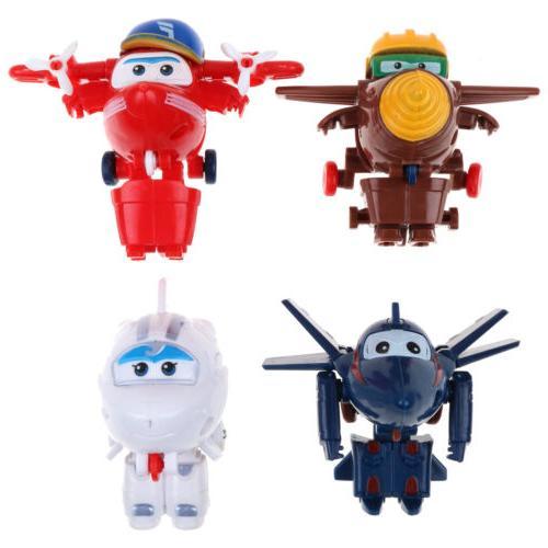 4/8/12Pcs Super Plane Mini Characters Toys