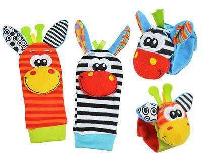 Infant Wrist Bell Sock Rattles Soft