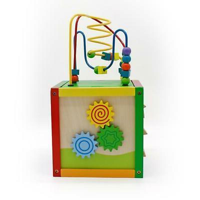 5 Cube Toys Wooden Bead Sorter