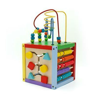 5 in 1 Activity Cube Educational Wooden Maze Sorter