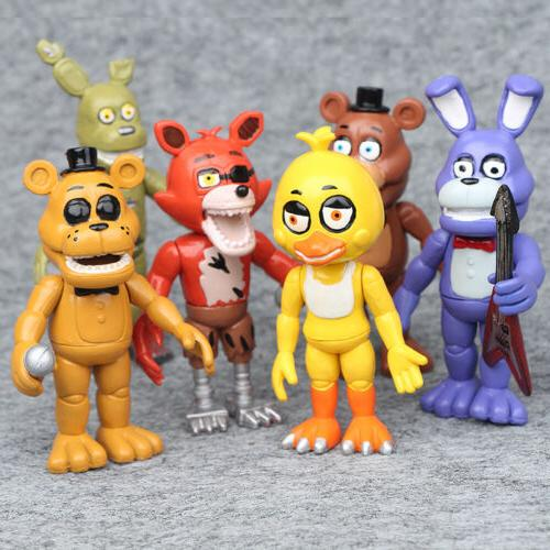 6 PCS FNAF Five Nights At Freddy's Game Action Figures Cake