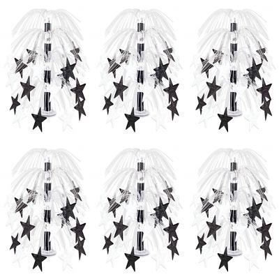 Star Cascade Centerpiece black white