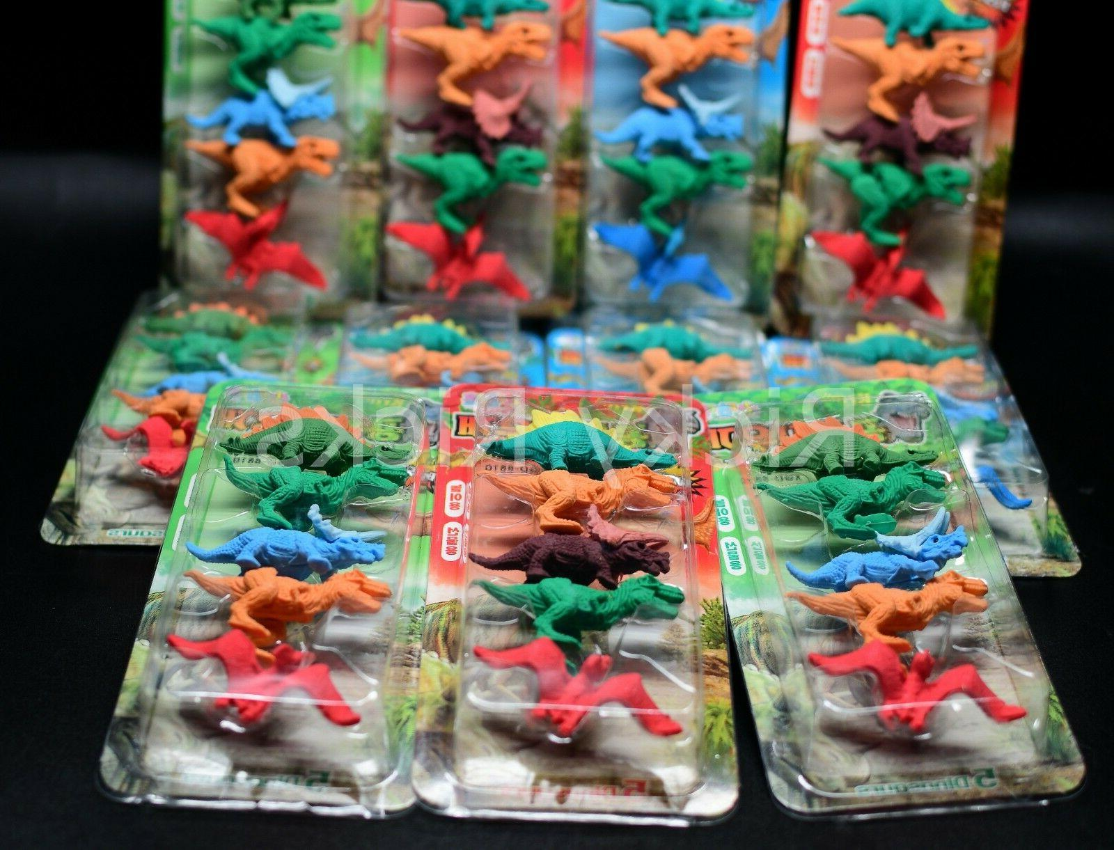 60 Dinosaur Erasers Toys Party Bag Fillers Favors Jurassic T