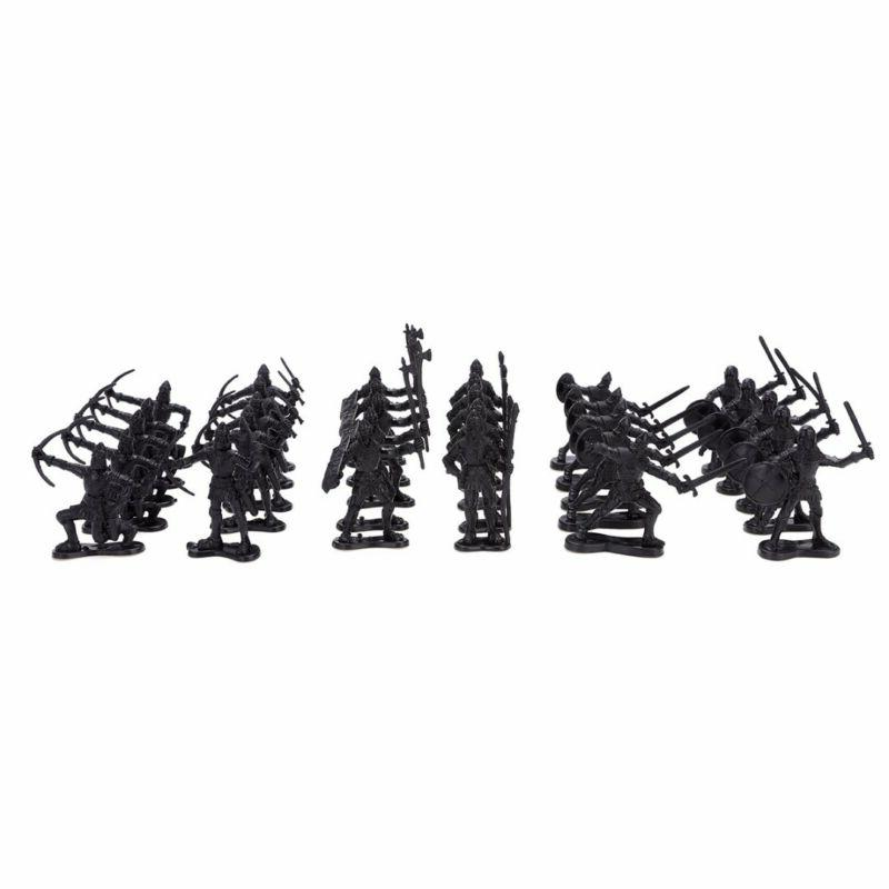 60Pcs Medieval Knights Warriors Soldiers Figure Model Playset Gifts