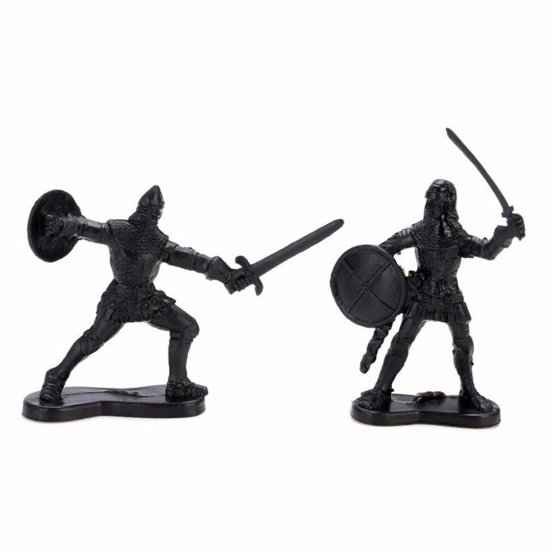 60Pcs Medieval Soldiers Toy Playset Xmas Gifts #US