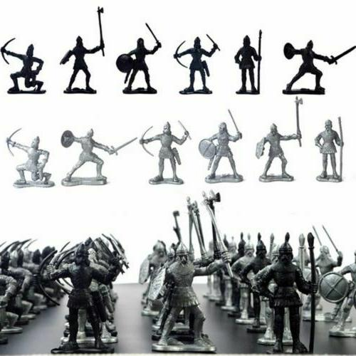 60pcs medieval knights warriors soldiers figure model