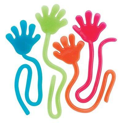 Adorox 72 Pieces Vinyl Glitter Sticky Hands Party Favor Birt