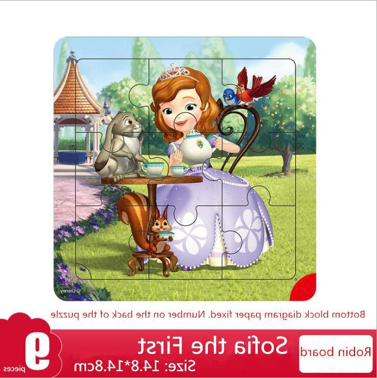 Disney Frozen Wooden Box Early Children Box <font><b>Puzzle</b></font> <font><b>Toys</b></font> For Girl