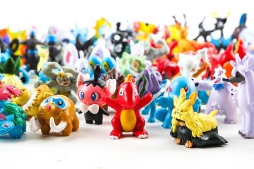 24-144Pcs Pokemon Pocket Monster Mini Action Figures Pocket