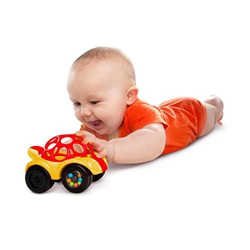 O Ball 1-Piece Rattle & Car, Colors