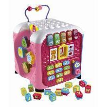 Vtech Alphabet Activity Cube Toy - Pink