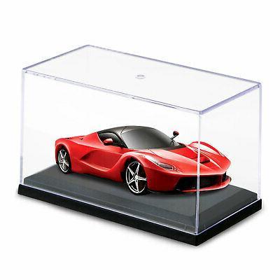 Acrylic 1:64 Car Black Base Diecast Model Toy