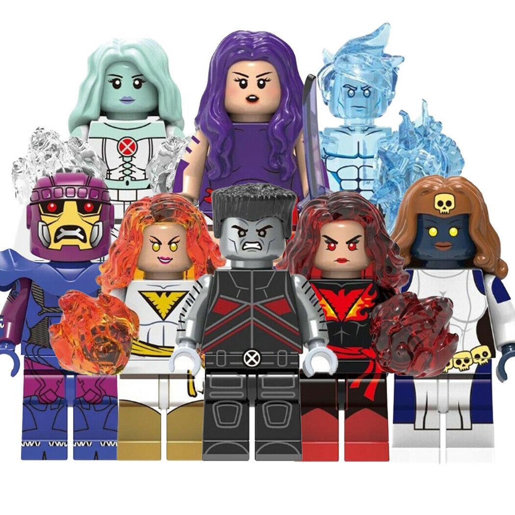 action figures building blocks comics superheroes toys