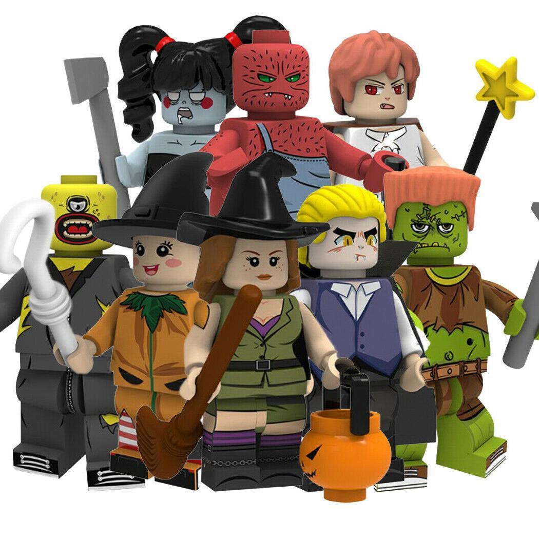 action figures building blocks halloween new small